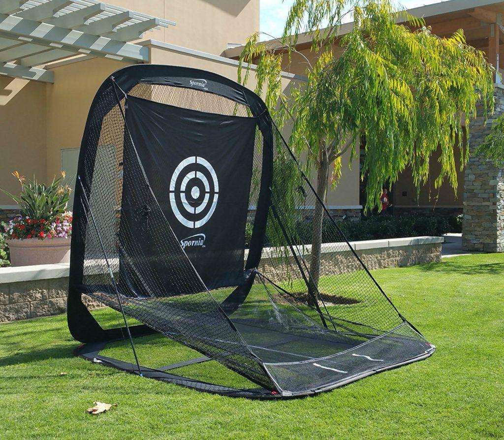 spornia golf practice net - automatic ball auto-return golf practice net
