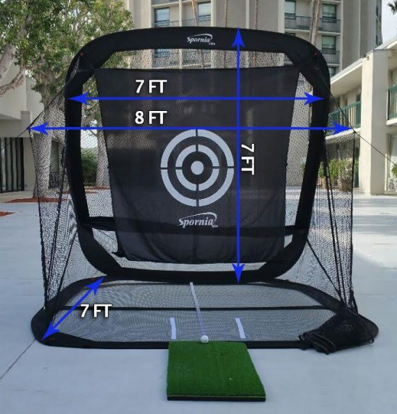 spornia golf practice net - automatic ball return golf net