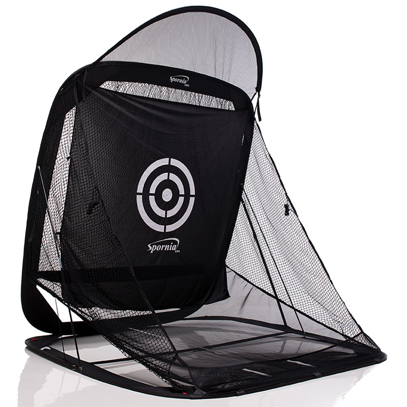 Spornia Golf Net with Chipping Basket and Roof Extension - Golf Practice Net